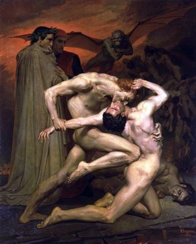 Ο Dante και ο Virgil in Hell   Adolf Bouguereau