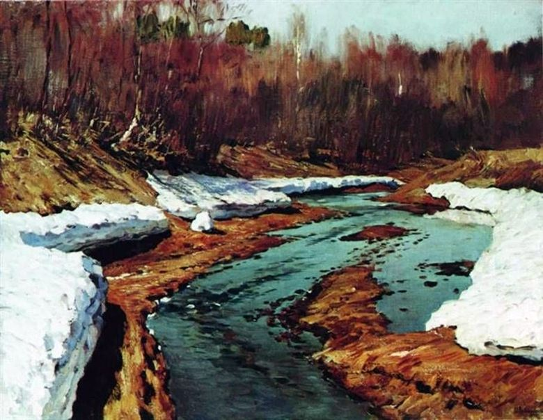 Άνοιξη The Last Snow   Isaac Levitan