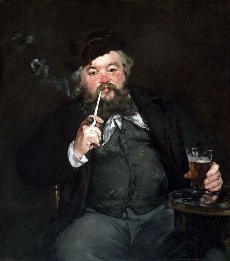 Over a Beer   Eduard Manet