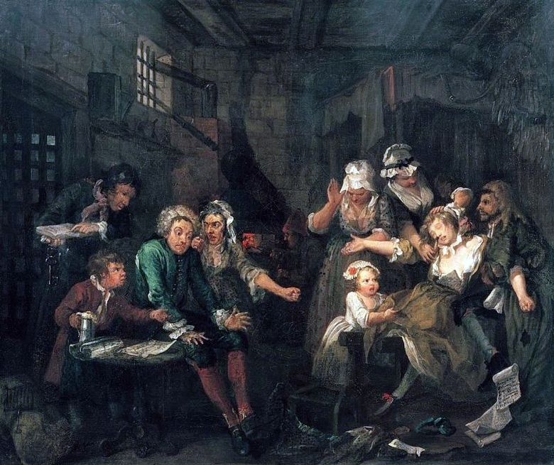 In Fleet Prison   William Hogarth