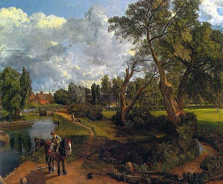 Flatford Mill (Scene on the Navigable River)   John Constable