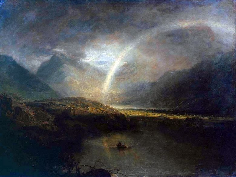 Λίμνη Buttermir με Rainbow και Rainfall   William Turner