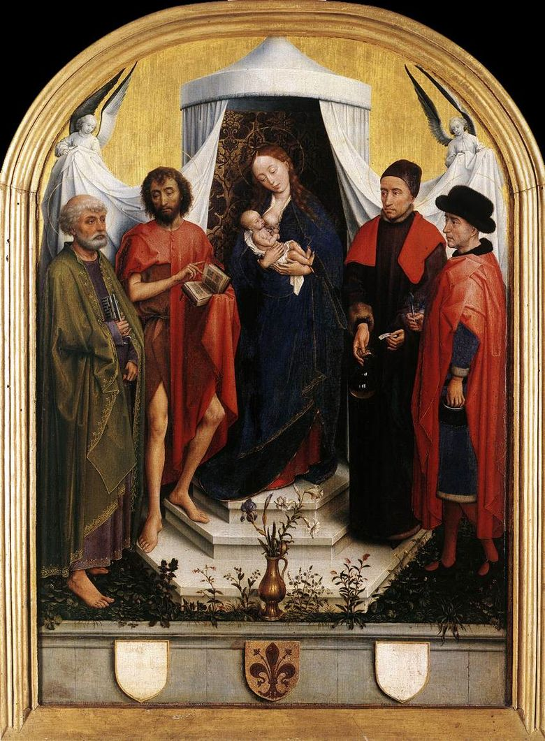 Madonna και Child with the Four Saints   Rogier van der Weyden