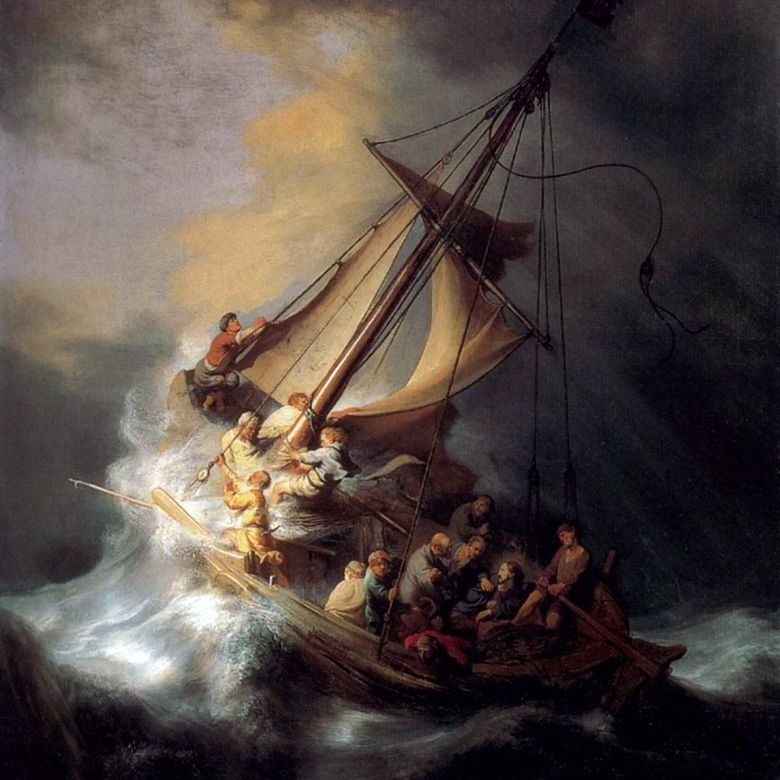 Shuttle of Christ in a Storm   Rembrandt Harmenszoon Van Rijn