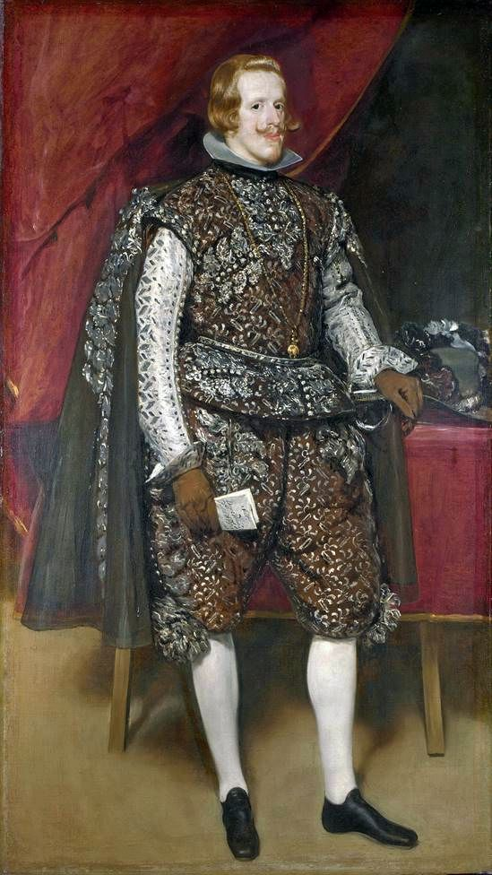 Philip 4 Spanish in Brown and Silver   Diego Velazquez