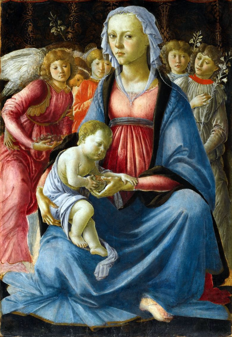 Madonna και Child with Five Angels   Sandro Botticelli
