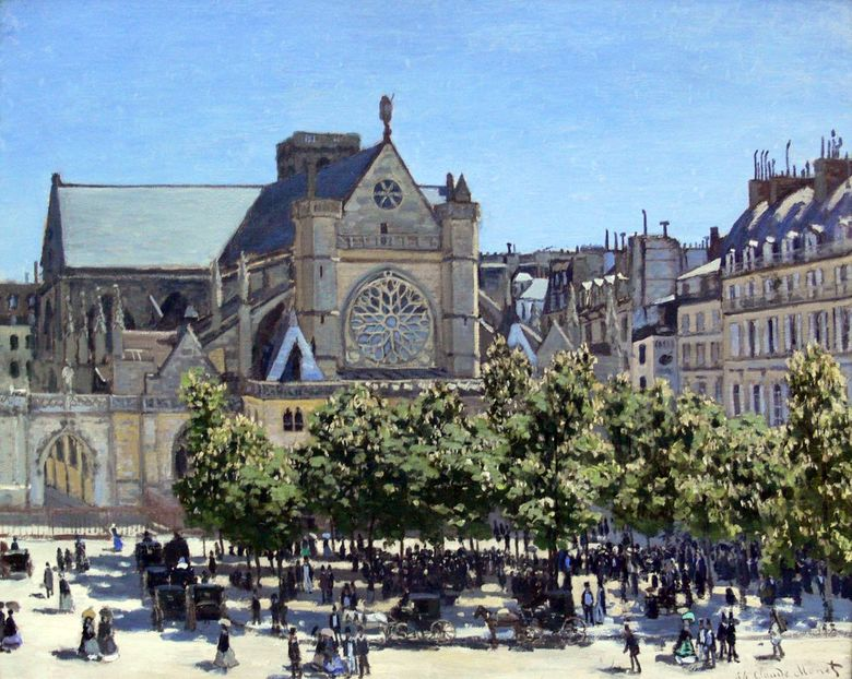 Saint Germain LOxerrois   Claude Monet